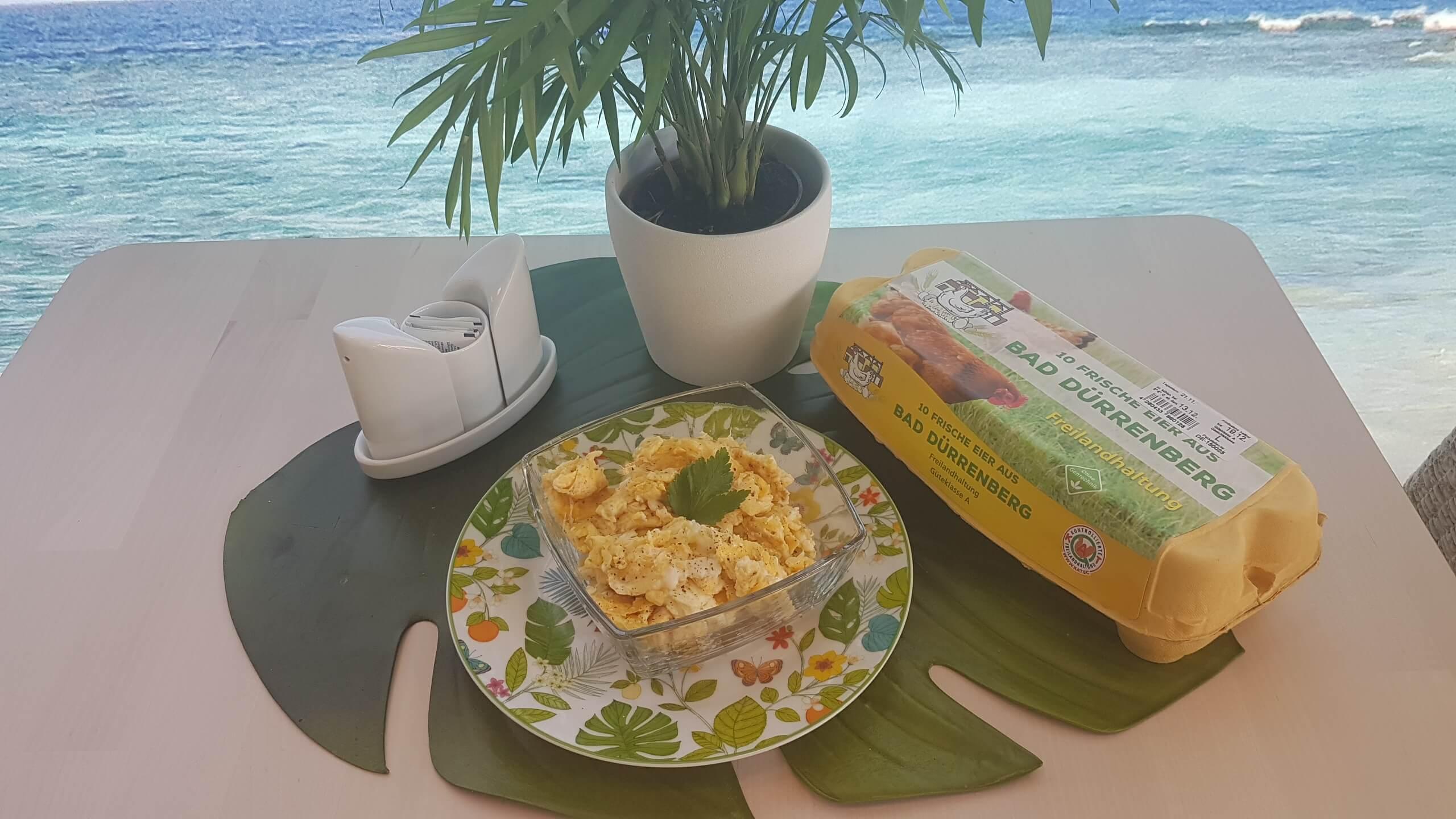 Portion Rührei Freilandhaltung Cafe Yellowbrasil